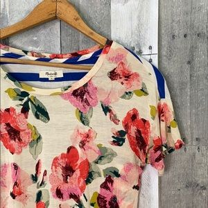 Madewell floral t shirt size small